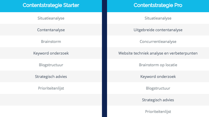 contentstrategie starter pro contany