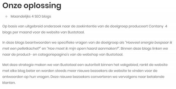 omschrijving oplossing case Bustotaal